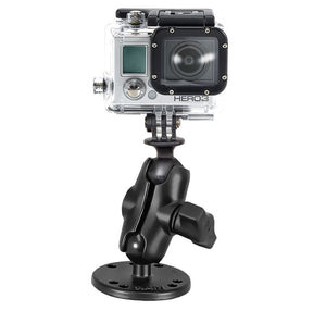 "RAM-B-138-A-GOP1U RAM Drill-Down Double 1"" Ball Mount with Universal Action Camera Adapter - Landloop"