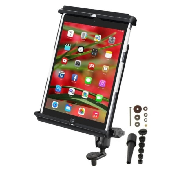 RAM Short Arm Fork Stem Bike Clamping Mount Holder for Apple iPad mini 1 2 3 & 4 With or Without a Light Duty Case - Landloop