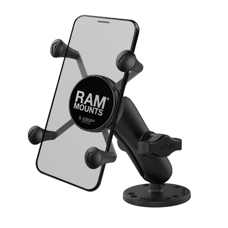 "RAM-B-138-UN7U RAM X-Grip Phone 1 "" Ball Mount with Drill-Down Base - landloop"