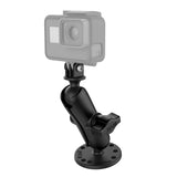 "RAM-B-138-GOP1 RAM Drill-Down 1"" Ball Mount with Universal Action Camera Adapter - Landloop"