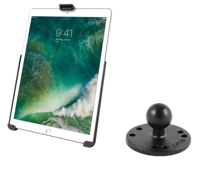 "RAM Mounts Cradle Holder for the Apple iPad Pro 10.5"" w/ Round Base Adapter - landloop"