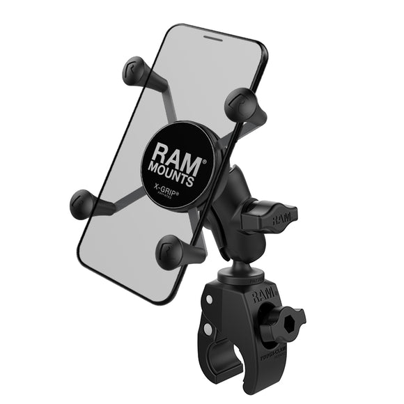 RAM-B-400-A-HOL-UN7BU RAM X-Grip Phone Mount with RAM Tough-Claw Small Clamp Base - Landloop