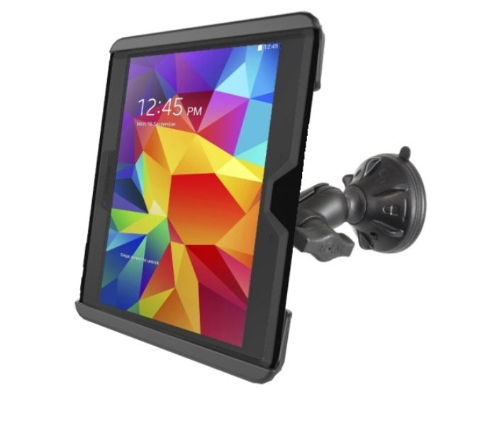 "RAM Short Arm Suction Cup Mount for Samsung Galaxy Tab 4 10.1 Tab S 10.5 & 10"" Tablets - landloop"