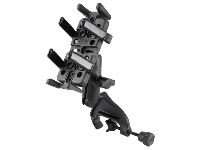 RAM-B-121-UN4U RAM Finger-Grip Universal Holder with Yoke Clamp Base - landloop