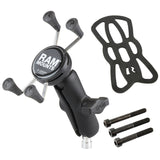RAM-B-367-UN7U RAM X-Grip Phone Mount with Motorcycle Handlebar Clamp Base - Landloop