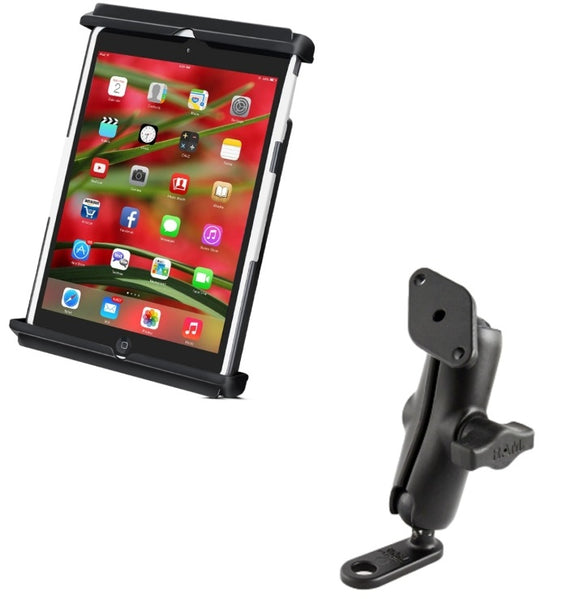 11mm Motorcycle Mirror Mount w/ Clamping Cradle for the Apple iPad mini 1 2 3 & 4 - Landloop