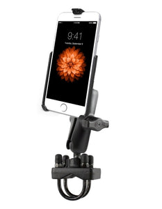 Strong Deluxe Motorcycle Rail Pipe Tube Mount Kit Holder fits Apple iPhone 6 & 7 - Landloop