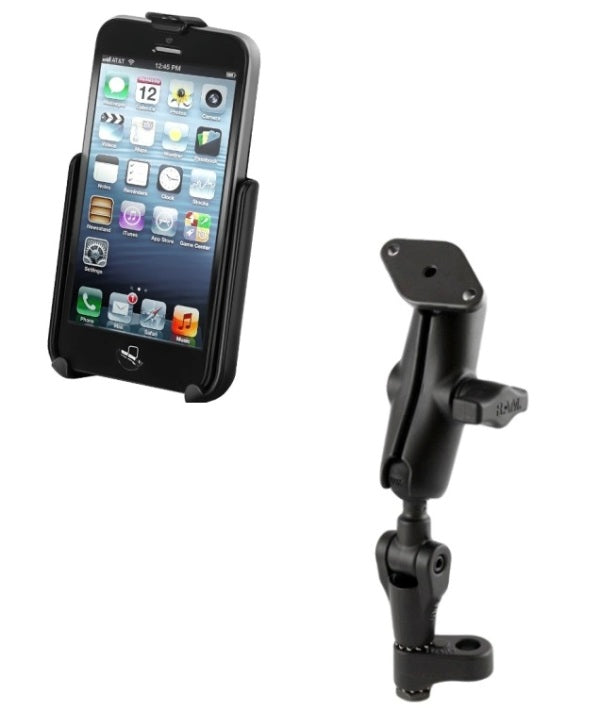 RAM Mounts Twist & Tilt Handlebar Motorcycle Mirror Mount Holder for Apple iPhone 5 5s & SE - Landloop