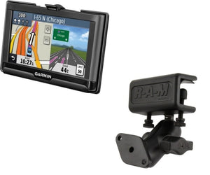 Heavy Duty Glare Shield Clamp Mount Holder for Gps Garmin nuvi 52 52LM 54 54LM 55 56 56LMT 57 57LM & 57LMT - Landloop