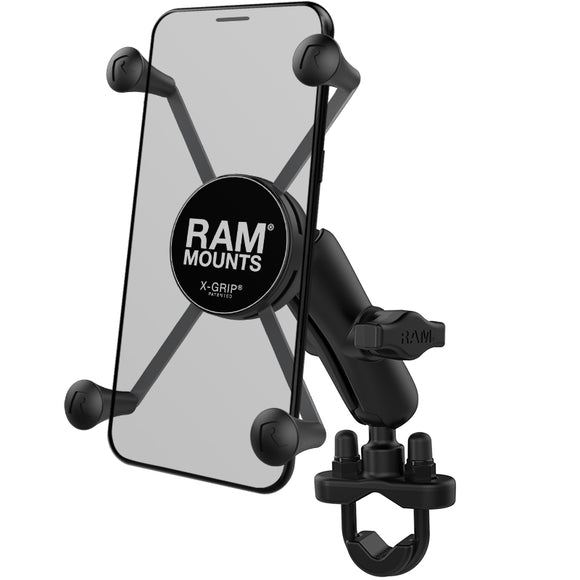 RAM-B-149Z-UN10U RAM X-Grip Large Phone Motorcycle Mount with Handlebar U-Bolt Base - Landloop
