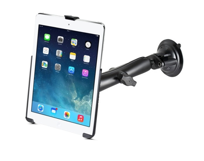 "RAM Mounts Suction Cup Long Arm Windshield Mount Holder Kit fits Apple iPad 5 Apple iPad Air 1 & 2 & Pro 9.7"" - Landloop"