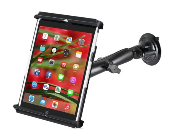 Suction Cup Long Arm Windshield Mount Holder Kit fits Apple iPad mini 1 2 3 & 4 w/ Case Skin or Sleeve - Landloop