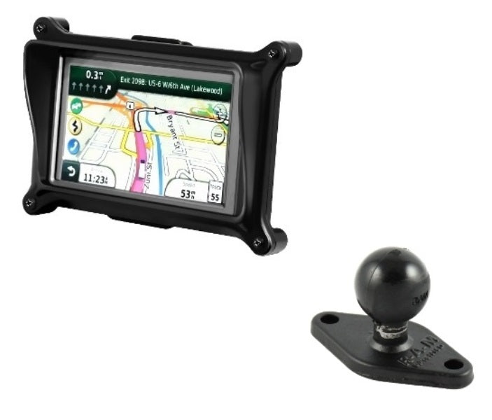 RAM Locking Cradle Holder w/ Diamond Base Adapter for Garmin dezl 560LMT & 560LT - landloop