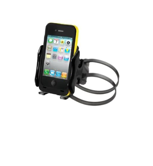 RUGGED UNIVERSAL RAIL BIKE BICYCLE MOUNT HOLDER FOR CELL PHONES IPHONES IPODS - Landloop