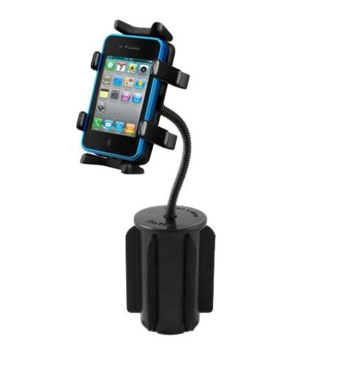 NEW HEAVY DUTY CUP HOLDER MOUNT FOR CELL PHONES AND SMARTPHONE MOBILE DEVICES - landloop