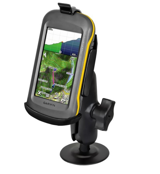 RAP-B-378-GA46 RAM Mounts EZ-Roll'r with Flex Adhesive Mount for Garmin Montana 600, 650, 650T, 680 & 680T - landloop