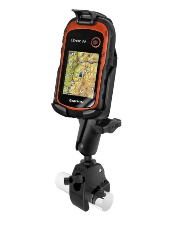Medium Tough-Claw Motorcycle Bike Mount Holder fits Gps Garmin eTrex 10 20 & 30 - landloop