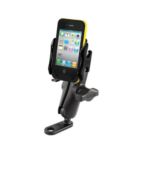 11MM FLAT BASE MOTORCYCLE UNIVERSAL MOUNT HOLDER FOR CELL PHONES IPHONES IPODS - Landloop