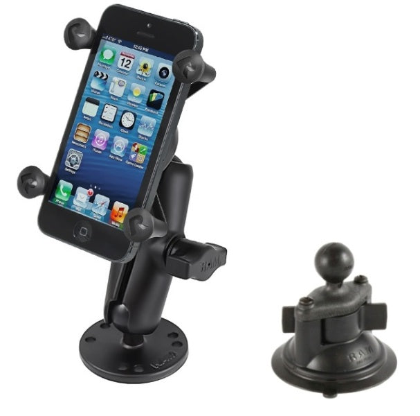 Flat Surface + Suction Cup Desktop Car Mounting Kit for Cell Phones Smartphones - landloop