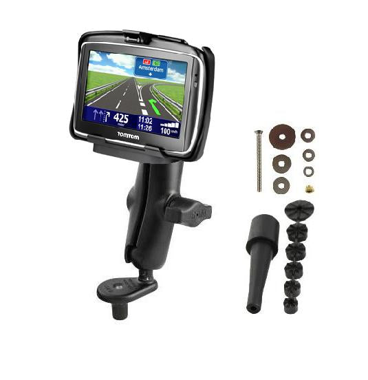 NEW HEAVY DUTY FORK STEM BIKE MOTORCYCLE MOUNT HOLDER FOR GPS TOMTOM GO 740 LIVE - Landloop
