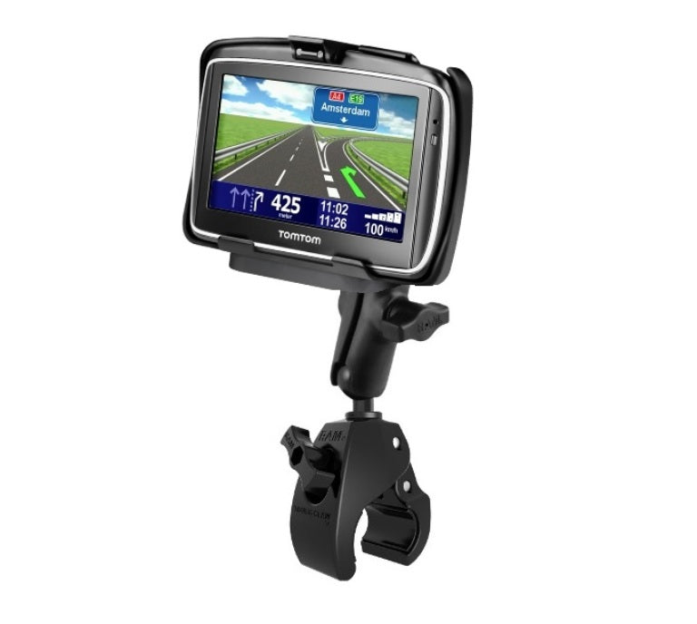 RAM Mounts Rugged Large Tough Claw Handlebar Rail Mount Holder Kit fits Gps TomTom GO 740 - landloop