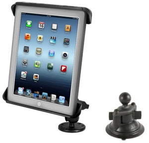 Flat Surface + Suction Cup Desktop Car Mounting Kit for Apple iPad 1 2 3 & 4 - Landloop
