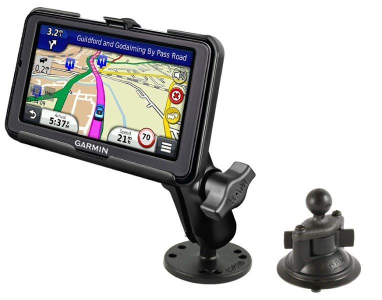 Flat Surface + Suction Cup Car Mount Kit for Garmin nuvi 2595LM 2595LMT & 2595LT - landloop