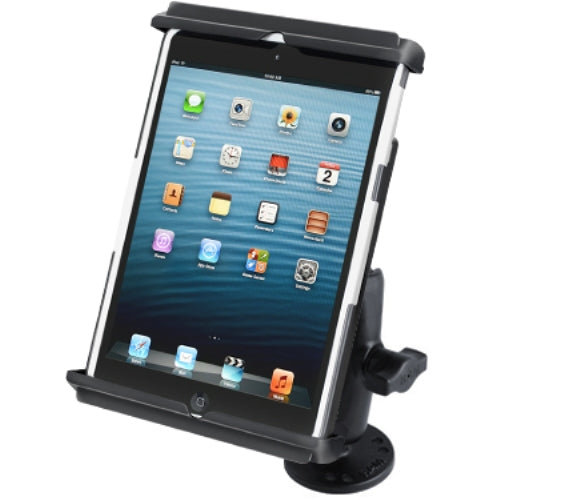 Flat Surface Center Console Mount w/ Clamping Cradle for Apple iPad mini 1 2 3 - landloop