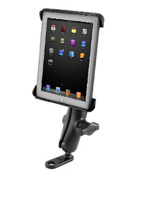 11mm Flat Base Motorcycle Mount w/ Clamping Cradle for Apple iPad 1 2 3 & 4 - Landloop