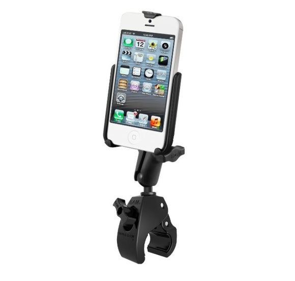 Rugged Large Tough Claw Handlebar Rail Mount Holder fits Apple iPhone 5 5S & SE - Landloop