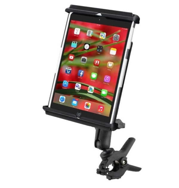 RAM Medium Tough-Clamp Handlebar Rail Mount Kit fits Apple iPad mini 1 2 3 & 4 With or Without a Light Duty Case - Landloop