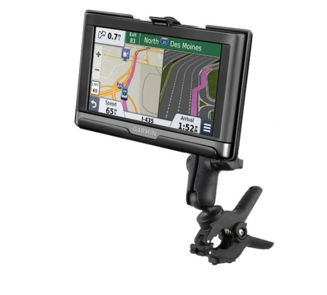 RAM Medium Tough-Clamp Handlebar Mount for Garmin nuvi 2557LMT 2577LT & 2597LMT - Landloop