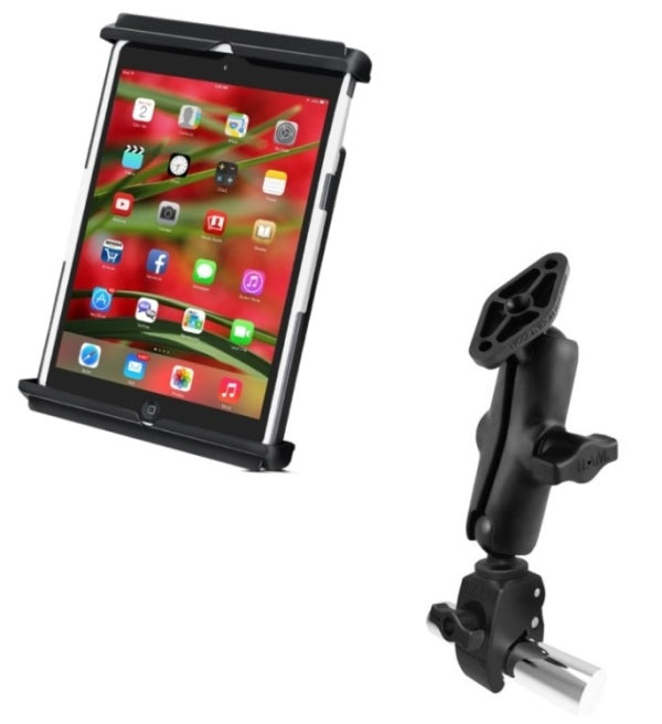 RAM Mounts Small Tough-Claw Handlebar Rail Tube Mount Kit Holder for Apple iPad mini 1 2 3 - landloop