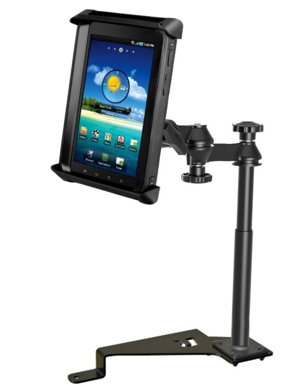 "RAM No-Drill '15-'18 Ford F-150 Mount Holder for 7"" Tablets in Heavy Duty Case - Landloop"