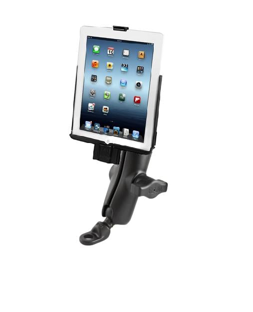 9MM FLAT BASE BIKE MOUNT WITH MODEL SPECIFIC SYNC CRADLE FOR APPLE IPAD 2 - Landloop