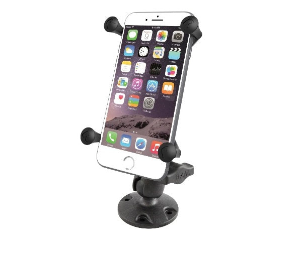 RAM Mounts SHORT Flat Surface Large X-Grip Drill Down Mount fits Cell Phones Smartphones - landloop