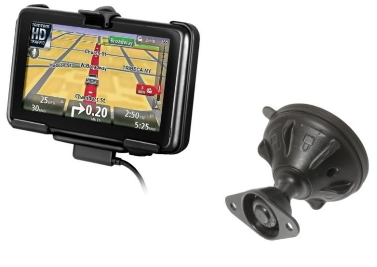 RAM Mounts Snap Link Windshield Suction Cup Mount for Gps TomTom 2535 M LIVE & 2535 TM WTE - landloop