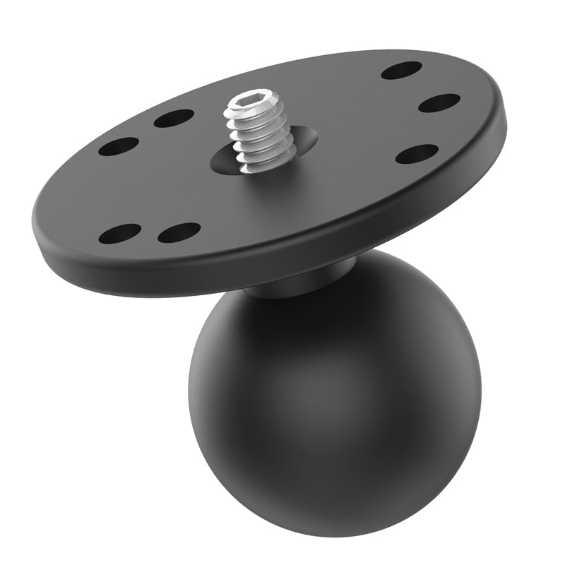 "RAM-202AU RAM 1.5"" Ball Adapter with Round Plate and 1/4""-20 Threaded Stud - landloop"