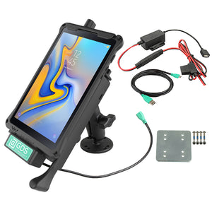 RAM-GDS-B-101LB-SAM40U GDS Locking Vehicle Dock for Samsung Tab A 8.0 (2018) Dash Mount Bundle - Landloop