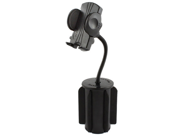 RAP-299-2-UN1U RAM-A-CAN II Cup Holder Mount with Universal Phone Holder - landloop