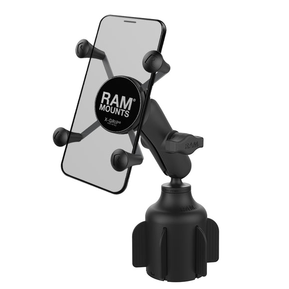 RAP-B-299-4-UN7U RAM Mounts X-Grip Phone Mount with RAM Stubby Cup Holder Base - landloop