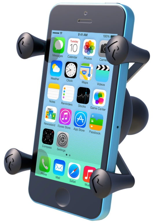 RAM-HOL-UN7BU RAM Mounts X-Grip Smartphone Cradle for Apple iPhone 7, 8, SE, X, Xs, Xr, 11 & 11 Pro - landloop
