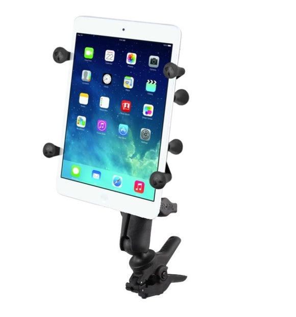 RAM Mounts Small Tough-Clamp X-Grip Motorcycle Handlebar Mount Holder fits 7