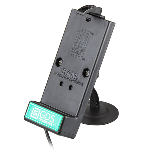 RAP-SB-180-GDS-DOCK-V1U GDS Powered Phone Dock with RAM Lil Buddy Adhesive Dash Mount - landloop