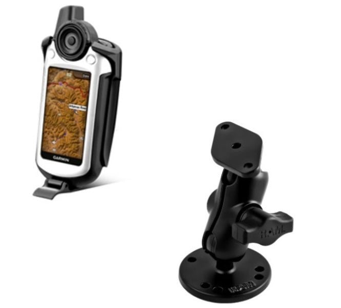 RAM Mounts SHORT Flat Surface Mount Holder for Gps Garmin Colorado 300 400c 400i & 400t - Landloop