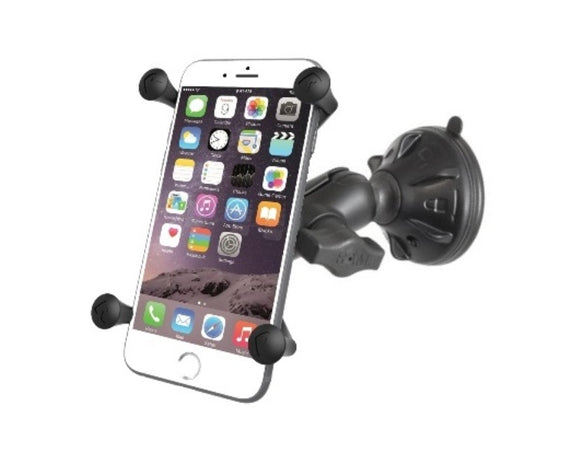 RAM Mounts Short Arm Suction Cup Large X-Grip Windshield Mount Holder for Smartphones - landloop