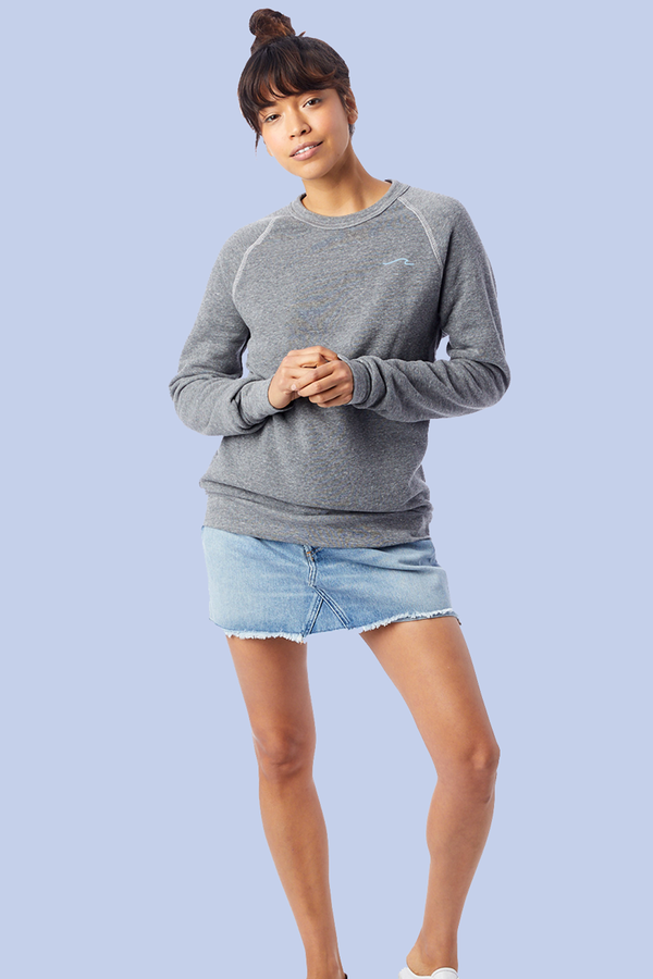 sustainable ladies sweatshirt - Awoke N' Aware