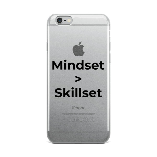 Mindset > Skillset iPhone Case - Go Enterprise