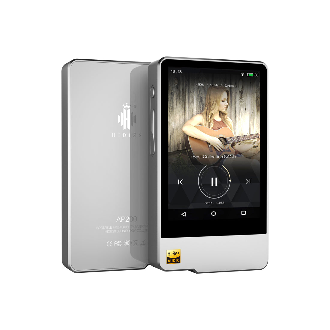Hidizs AP200 Portable Hi-Res Music Player