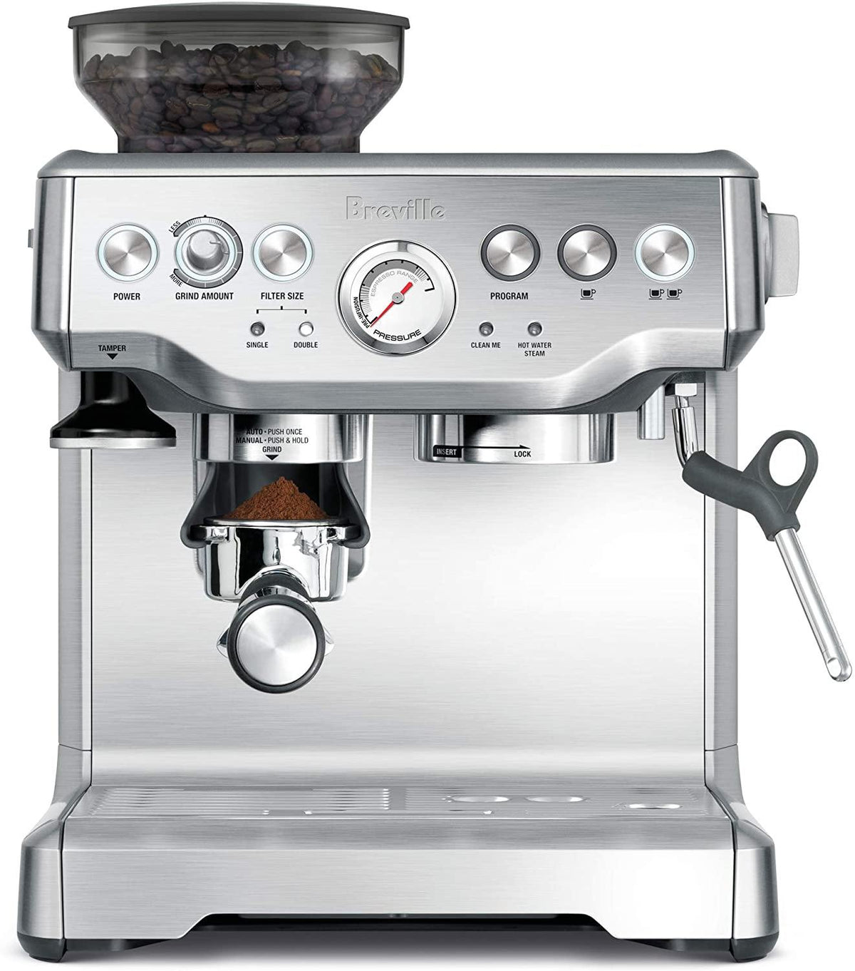 Breville the Barista Express Espresso Machine, BES870XL - Bean Hoppers
